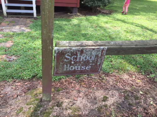 Schoolhouse sign